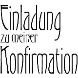 Rayher - 28385000 - H.- Stempel Einladung z. Konfirmation, 6x6cm, Art.11201