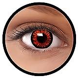 FXEYEZ® Farbige Kontaktlinsen braun Twilight + Linsenbehälter, weich, ohne Stärke als 2er Pack - angenehm zu tragen und perfekt zu Halloween, Karneval, Fasching oder Fasnacht