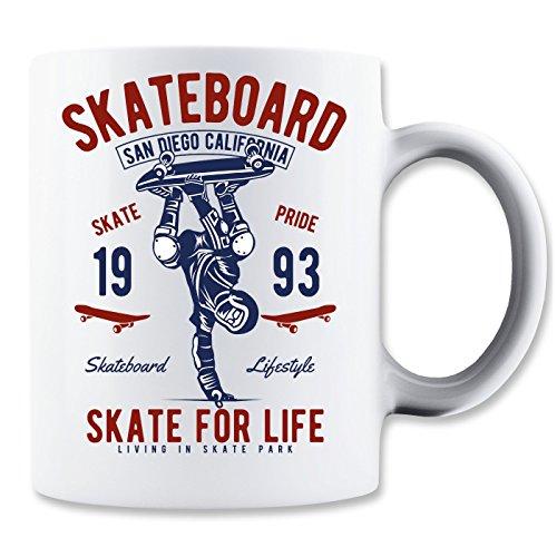 Skate for Life San Diego Califronia Longboard Lifestyle Tasse Classique de thé Tasse de café