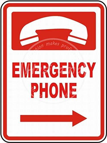 Emergency Phone Targhe in Metallo Parete Segnale di Avvertimento Giardino Bar Poster Vintage Figura Band Tema Matrimonio Regalo di Nat