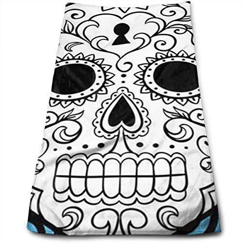 Beautiful & Color Sugar Skull Badetücher für Badezimmer, Hotel-Spa-Kitchen-Set, ägyptische Baumwolle, sehr saugfähig, Hotelqualität, 30,5 x 69,8 cm