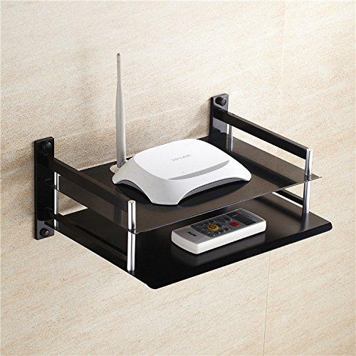CLG-FLY negro espacio de lujo TV digital set-top-box de aluminio soporte router...