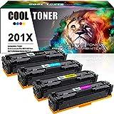 Cool Toner Kompatibel Toner Cartridge Replacement für HP 201A 201X Toner für HP Color Laserjet Pro MFP M277dw M252dw M252n Laserjet Pro MFP M277 M277n M274n M252 CF400X CF400A CF401X CF402X CF403X