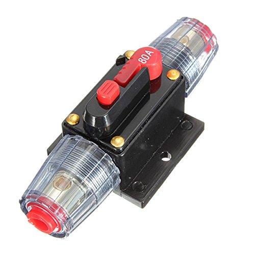 GOZAR Dc12V Auto Stereo Audio Leistungsschalter Inline Sicherung 80Amp 80A