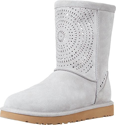 UGG Womens Classic Short Sunshine Perf Boot Seal Size 6