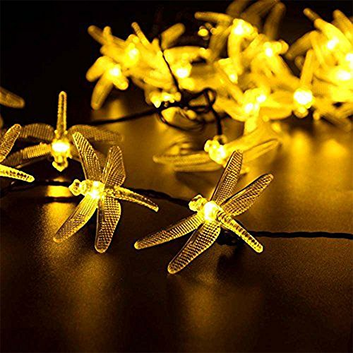 ette Libelle LED Lights 6.5M 30 LEDs String Lights Wasserdicht Dekoratives Licht für Garten, Weihnachten, Outdoor Party, Balkon, Hochzeit, Fest Deko usw(Warmweiß) ()