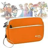 Housse de rangement en orange pour transporter vos figurines de Jeu Disney Infinity - résistante et lavable