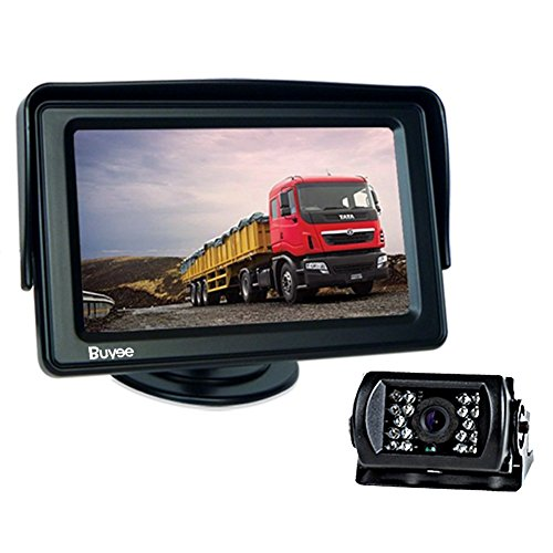 """Buyee® AUTO KFZ 4.3\"""" LCD Display + Nachtsicht Farbe Rückfahrkamera Kamera Komplett Set Rückfahrsystem"""