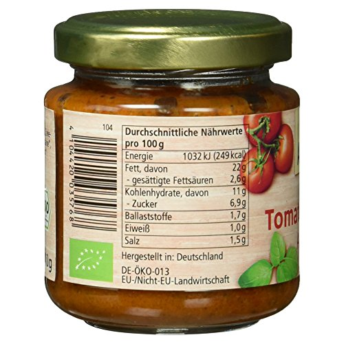 Alnatura Bio Brotaufstrich Tomate-Basilikum, vegan, 6er Pack (6 x 110 g) - 5