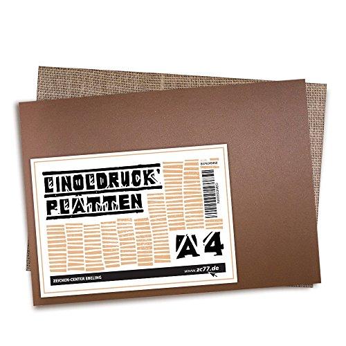ng 2er Packung Linoleum-Platte, Din A4 (Zeichen-center)