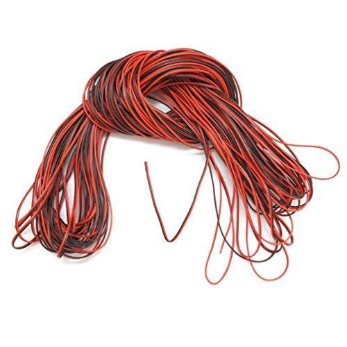 PsmGoods 20m 66ft 20AWG 2 Pin Verlängerungskabel Draht-Schnur für LED Leisten Einfarbig 3528 5050