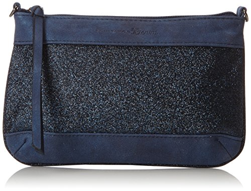 TOM TAILOR Denim Damen Tilda Clutch, Blau (Blau), 1x15.5x24 cm (Handtasche Clutch)