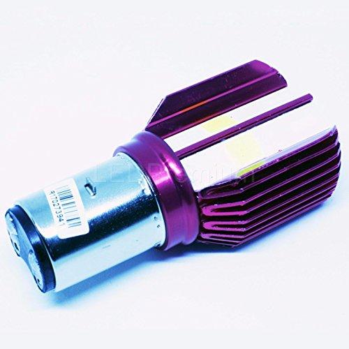 LEDPremium 1x BOMBILLA LED BA20d 35/35W S2 12V Hi/Lo Motorcycle Headlamps COB...