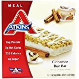 Atkins Advantage Bar Cinnamon Bun -- 5 Bars by Atkins