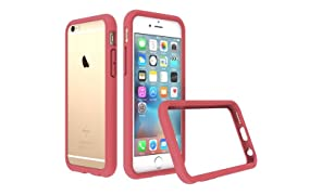 RhinoShield Bumper Case FOR IPHONE 6 / IPHONE 6s [NOT Plus] [CrashGuard] | Shock Absorbent Slim Design Protective Cover [3.5 M / 11ft Drop Protection] - Coral Pink