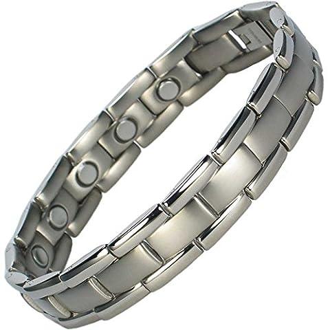 MPS® Mens Titanium Magnetic Bracelet, Powerful 3,000 gauss Magnets +