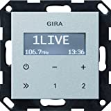 Gira 228426 Unterputz Radio RDS ohne Lautsprecher System 55, alu