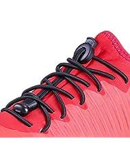 Elastische Schnürsenkel mit Schnellverschluss - Schnellschnürsystem ohne zu binden für Laufen, Wandern, Sport, Outdoor Rabbitgoo