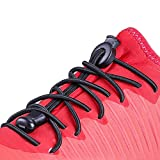 Rabbitgoo No Tie Elastic Shoelaces for Adult and Kids, Best Lock Waterproof Durable with No Tie Elastic System, Running, Climbing, Ideal for Sneakers and Boots, 1 Pair