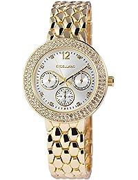 Excellanc llanc Mujer Reloj De Pulsera Banda de metal analógico de cuarzo goldfarbig 152302500010