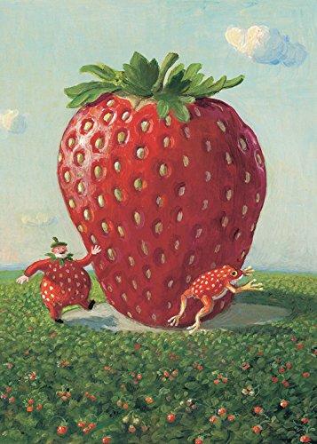 Kostüm Kichert - Postkarte A6 • 15052 ''Erdbeer-Schorsch'' von Inkognito • Künstler: Michael Sowa • Satire • Fantastik