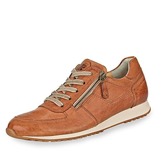 Paul Green 4252-241 Damen Sneaker aus hochwertigem Leder gepolsteter Schaftrand, Groesse 41, Cognac
