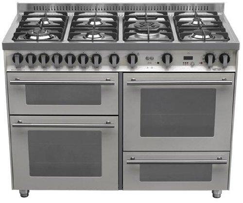 Lofra P126SMFE+MF/2CI - Cocina (Cocina familiar tipo industrial, Acero inoxidable, Giratorio, Frente,...