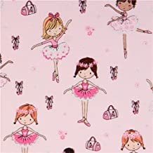 Tela rosa claro niña bailarina ballet brillante de Timeless Treasures