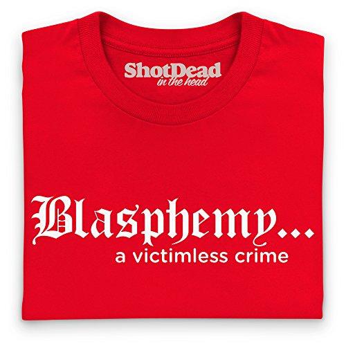 Blasphemy T-Shirt, Damen Rot