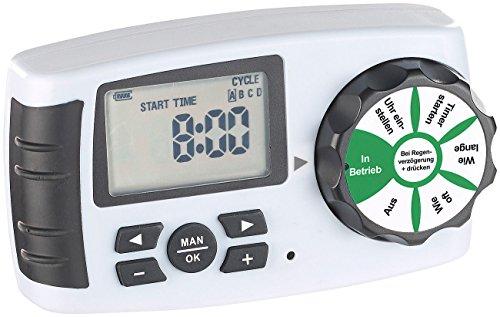 Royal Gardineer Zubehör zu Gartencomputer: Bewässerungscomputer BWC-400 für 4 Bewässerungs-Adapter, Magnet-Ventil (Bewässerungscomputer 4 Anschlüsse)