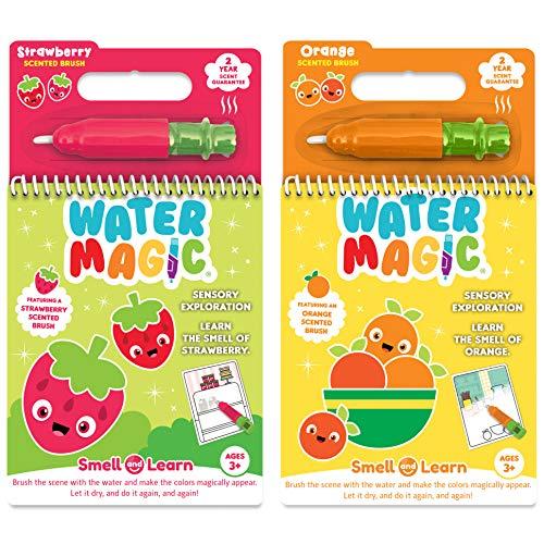 Scent Masters Water Magic - Riutilizzabile Acqua Rivela Coloring Book Bundle - Fragola e Arancia profumata