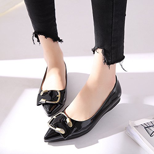 CUEY-Frauen-Schuhe-Metall-flachen-Schuh-Punkte-schwangere-Frauen-Schuhe-mit-weichen-dann-Schuhe