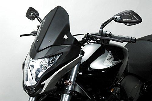 Hornet 600 2011/12 - Windschutzscheibe 'Warrior' (R-0690B) - Aluminium Windschild Windabweiser Scheibe - Hardware-Bolzen Enthalten - Motorradzubehör De Pretto Moto (DPM) - 100% Made in Italy