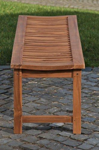 CLP Teakholz Garten-Bank HAVANA V2 ohne Lehne, Teak-Holz massiv (bis zu 8 Größen wählbar) 160 x 45 x 45 cm - 4
