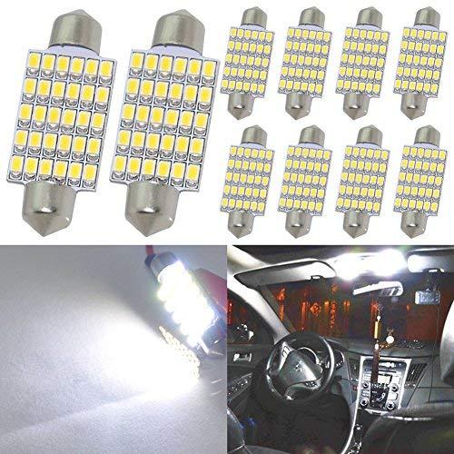 Taben Blanc 42 mm 3020 30smd Feston dôme carte intérieur lumière LED 211–2 212–2 214–2 560 569 pour Festoon carte Dome Cargo Trunk lumière de plaque d'immatriculation (lot de 2)