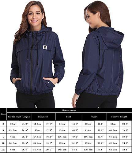 51Sy%2BnVMv3L - Abollria Women Rain Jacket Waterproof with Hood Lightweight Active Outdoor Windbreaker Raincoats