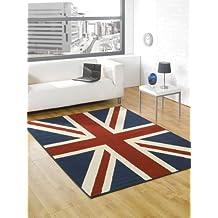 "Buckingham Great Britain drapeau Union Jack Tapis Bleu/Rouge/blanc 6 '2 ""x 5'(80 x 150 cm-Tapis"