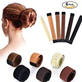 Chignon Capelli Accessori Capelli Magic Bun Maker - 6 pezzi Donne Capelli, Chignon Twist Hair Fold Wrap Snap- Bun Maker per Donne Hair Styling Disc Chignon Make