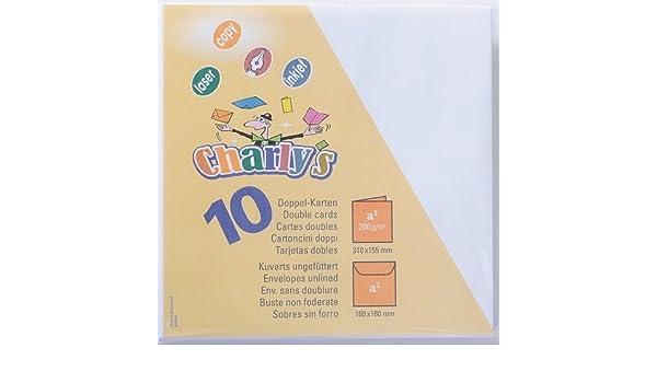 Charly/´s 10 Doppelkarten und 10 Umschl/äge quadratisch hellblau Artoz Papier AG