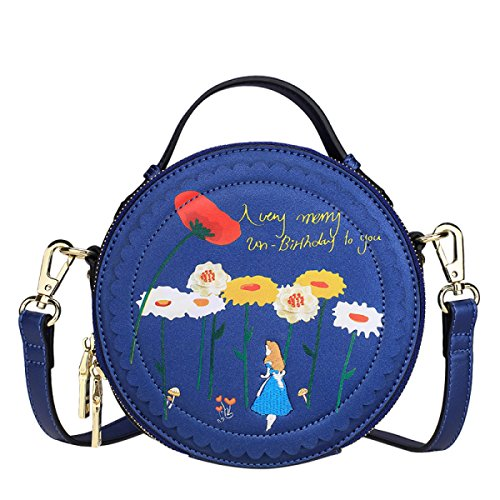 FZHLY Damen Runde Handtasche Cartoon Print Schultertasche Nette Umhängetasche Single-shoulder Bag Anime