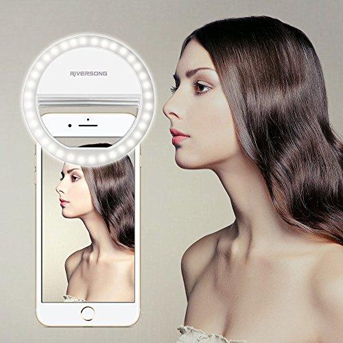 Selfie-Ring-Light-RIVERSONG-Mini-portatile-36-LED-White-Beauty-riempire-la-luce-3-ingranaggi-regolabili-luminosit-per-iPhone-iPad-telefono-Android-in-dim-ambiente-bianco