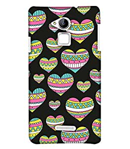 PrintHaat Designer Back Case Cover for Coolpad Note 3 :: Coolpad Note 3 Plus (designer pattern :: decorative design :: zig zag design :: multicolor design :: latest trendy design :: excellent drawing design :: good looking art design :: in black, green, red, blue and yellow)