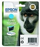 Epson T0892 Affe, wisch- und wasserfeste Tinte (Singlepack) cyan