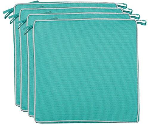 Brandsseller - Cojín para asiento exterior decorativo,repele la suciedad y el agua, relleno de 220 g, - Tamaño: 40 x 40 x 4 cm