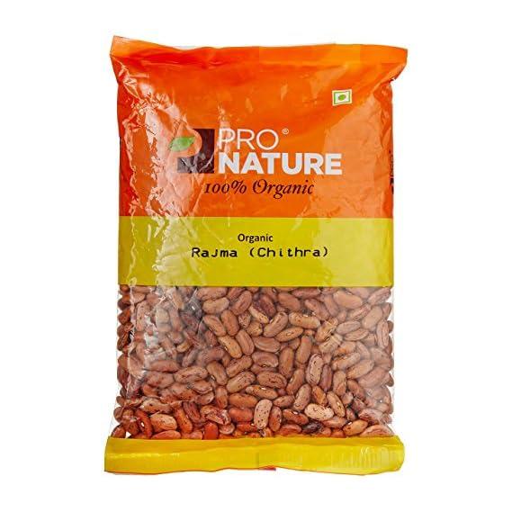 Pro Nature Organic Pulses - Rajma Chithra, 500g Pouch