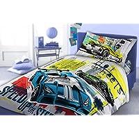 Maxi & Mini -Set di lenzuola con copripiumone da 160 x 200 cm, federa 70 x 80, con decorazione a motivo: Hot Wheels