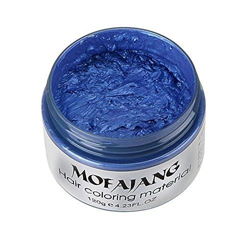 Ularma 2017 BRICOLAGE Cheveux Argile Cire Boue Colorant Crème Grand-maman Cheveux Cendre Colorant Temporaire 7 Couleurs Bleu