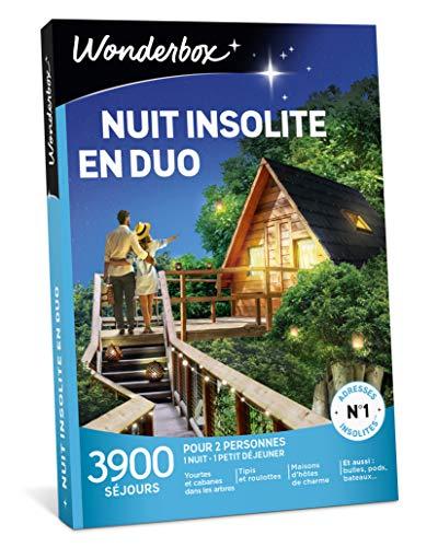 Wonderbox - Coffret Cadeau de Noel Séjour - NUIT INSOLITE EN DUO