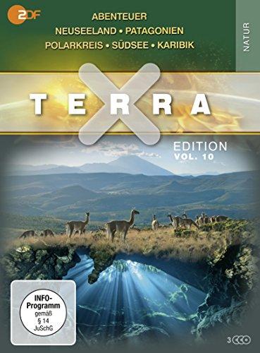 Terra X - Edition Vol. 10: Abenteuer Neuseeland / Patagonien / Polarkreis / Südsee / Karibik (3 DVDs)