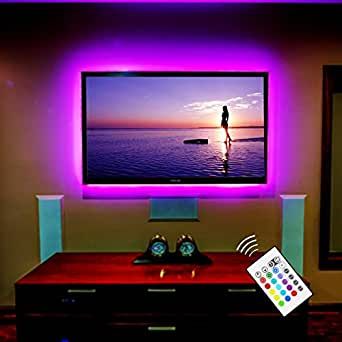 "TV USB LED Bias Lighting Striscia di retroilluminazione per 55"" pollici a schermo piatto HDTV"